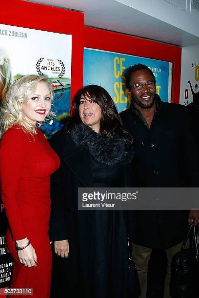 Actress Monika Ekiert Actress Sophie Picciotto and Producer Sydney Gallonde attend Polish Hope Paris Screening At Cinema Grand Action on January 19...