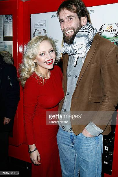 Actress Monika Ekiert and Film Editor Romain Clouet attend Polish Hope Paris Screening At Cinema Grand Action on January 19 2016 in Paris France