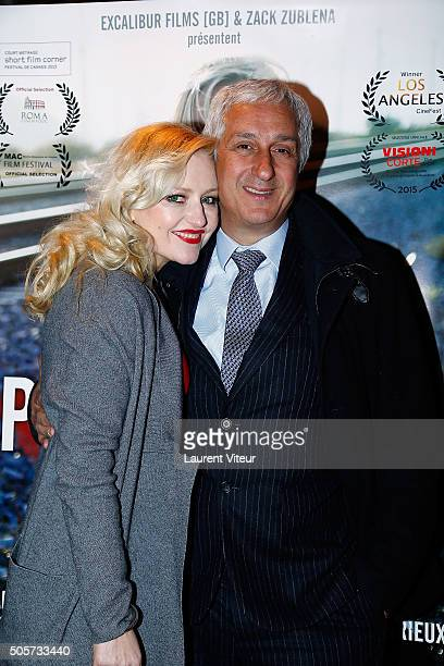 Actress Monika Ekiert and President of MIN Rungis Stphane Layani attend Polish Hope Paris Screening At Cinema Grand Action on January 19 2016 in...