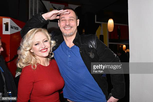 Actress Monika Ekiert and TV presenter Gael Leforestier attend the 'Polish Hope' Short Movie Screening Party at Cinema Grand Action on January 19...