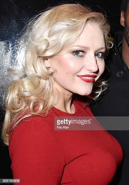 Actress Monika Ekiert attends the 'Polish Hope' Short Movie Screening Party at Cinema Grand Action on January 19 2016 in Paris France