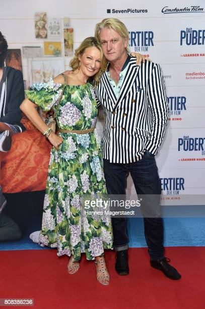 Actress Monika Gruber and Detlev Buck during the ''Das Pubertier'' premiere at Mathaeser Filmpalast on July 4 2017 in Munich Germany