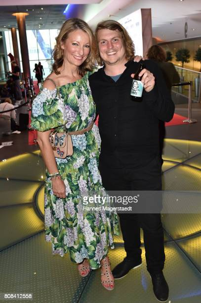 Actress Monika Gruber and Franz Xaver Zeller during the ''Das Pubertier'' premiere at Mathaeser Filmpalast on July 4 2017 in Munich Germany