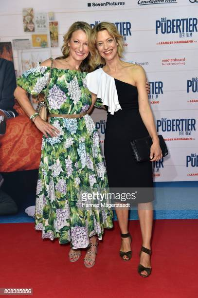 Actress Monika Gruber and Heike Makatsch during the ''Das Pubertier'' premiere at Mathaeser Filmpalast on July 4 2017 in Munich Germany