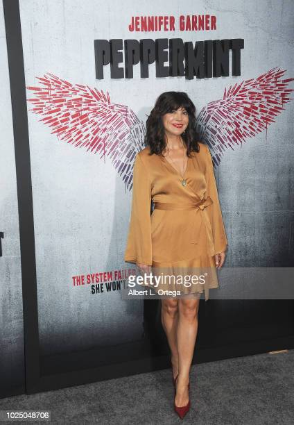 Actress Moniqua Plante arrives for the Premiere Of STX Entertainment's Peppermint held at Stadium 14 on August 28 2018 in Los Angeles California