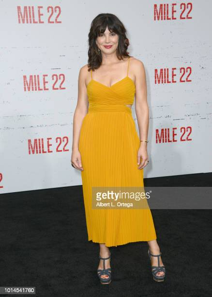 Actress Moniqua Plante arrives for the Premiere Of STX Films' 'Mile 22' held at Westwood Village Theatre on August 9 2018 in Westwood California
