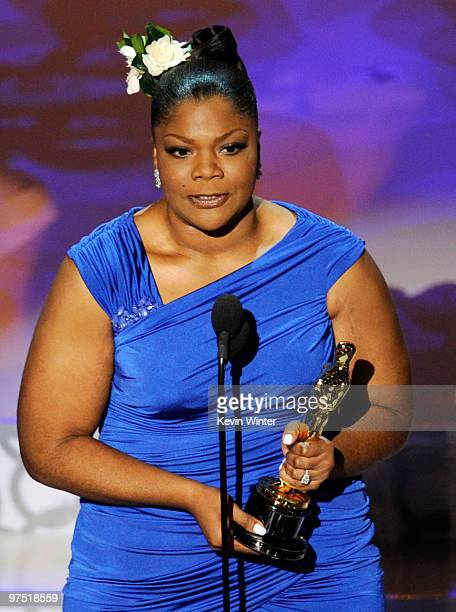 Actress Mo'Nique accepts Best Supporting Actress award for 'Precious Based on the Novel 'Push' by Sapphire' onstage during the 82nd Annual Academy...