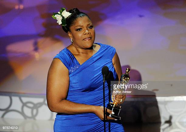 Actress Mo'Nique accepts Best Supporting Actress award for Precious Based on the Novel 'Push' by Sapphire onstage during the 82nd Annual Academy...