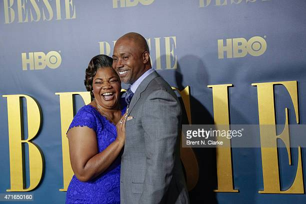 Actress Mo'Nique and husband Sidney Hicks arrive for the New York screening of 'Bessie' held at The Museum of Modern Art on April 29 2015 in New York...