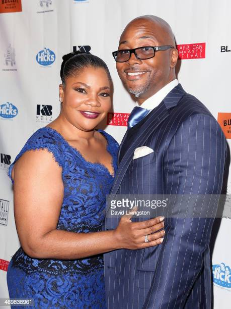Actress Mo'Nique and husband Sidney Hicks attend the Pan African Film Arts Festival closing night premiere of 'Blackbird' at Rave Cinemas Baldwin...