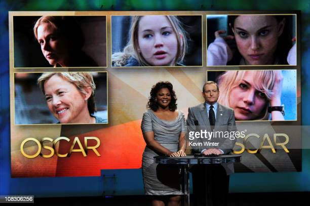 Actress Mo'Nique and President of the Academy of Motion Picture Arts and Science Tom Sherak annouce the nominees for Best Actress onstage at the 83rd...