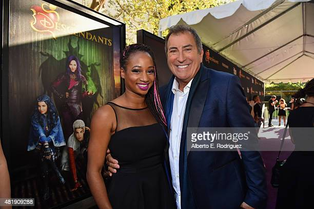 Actress Monique Coleman and director Kenny Ortega attend the premiere of Disney Channel's 'Descendants' at Walt Disney Studios on July 24 2015 in...