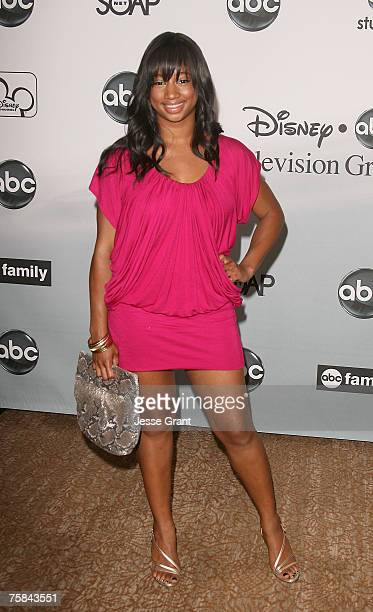Actress Monique Coleman arrives at the ABC Summer Press Tour Party at the Beverly Hilton Hotel on July 26 2007 in Beverly Hills California