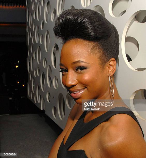 Actress Monique Coleman attends Lisa Left Eye Lopes Foundation's Eye Legacy Event at the Blue Velvet Restaurant Lounge on March 5 2009 in Los Angeles...