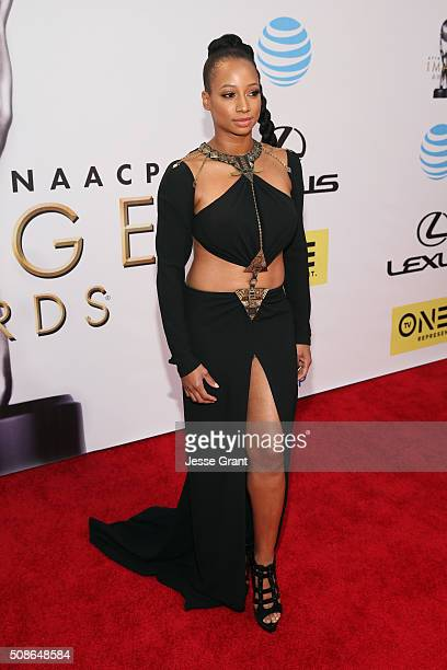 Actress Monique Coleman attends the 47th NAACP Image Awards presented by TV One at Pasadena Civic Auditorium on February 5, 2016 in Pasadena,...