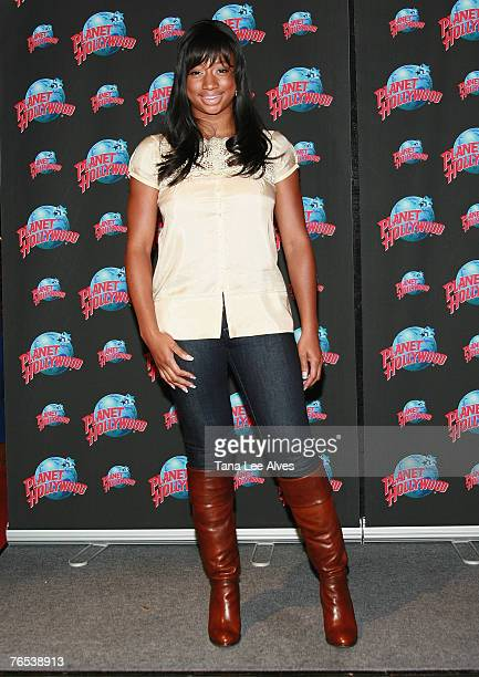 Actress Monique Coleman during a Handprint Ceremony at Planet Hollywood in Times Square on September 5, 2007 in New York City.