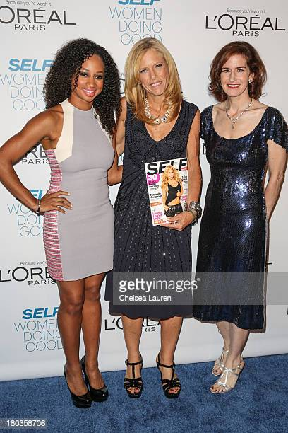 Actress Monique Coleman SELF editorinchief Lucy Danziger and honoree Jessica Greer Morris arrive at the 6th annual SELF Magazine's Women Doing Good...