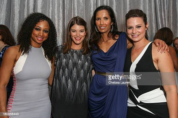 Actress Monique Coleman, TV personality Gail Simmons, TV personality Padma Lakshmi and actress Katie Lowe pose at the 6th annual SELF Magazine's...