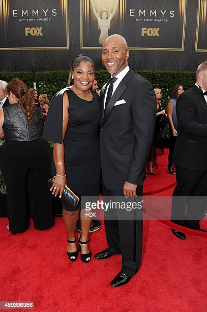 Actress Mo'Nique ImesJackson and Sidney Hicks attends the 67th Annual Primetime Emmy Awards at Microsoft Theater on September 20 2015 in Los Angeles...