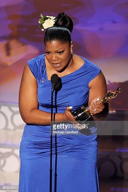 Actress Mo'Nique onstage during the 82nd Annual Academy Awards held at Kodak Theatre on March 7 2010 in Hollywood California