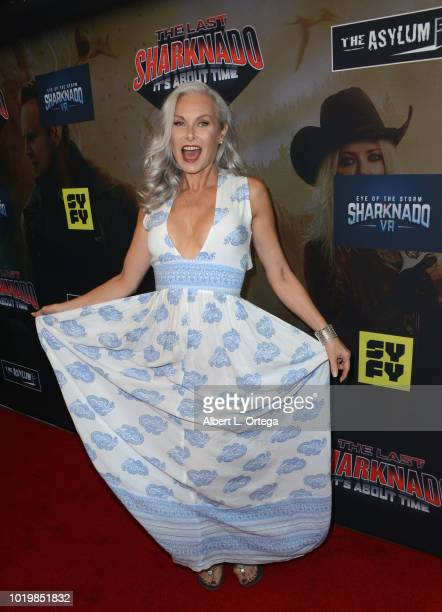 Actress Monique Parent arrives for the Premiere Of The Asylum And Syfy's 'The Last Sharknado It's About Time' held at Cinemark Playa Vista on August...