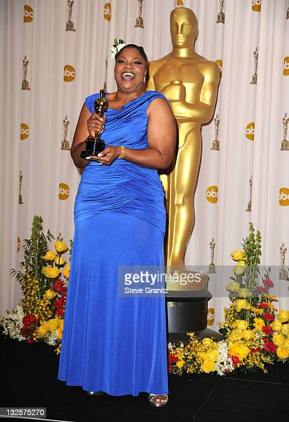 Actress Mo'Nique poses in the press room at the 82nd Annual Academy Awards held at the Kodak Theatre on March 7 2010 in Hollywood California on March...