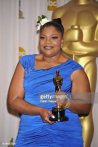 Actress Mo'Nique posing in the press room at the 2010 Oscars held at the Kodak Theatre in Los Angeles
