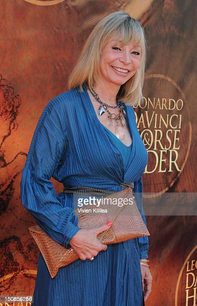 Actress Monique St Pierre attends the World Grand Unveiling Of Leonardo da Vinci's Sculpture Horse and Rider at Greystone Mansion on August 27 2012...