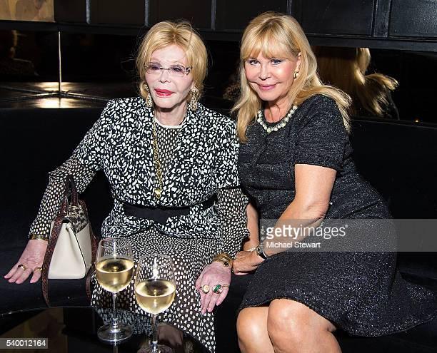 Actress Monique van Vooren and Ava Roosevelt attend the Sensei Kazumasa Kawasaki Reception at Beautique on June 13 2016 in New York City