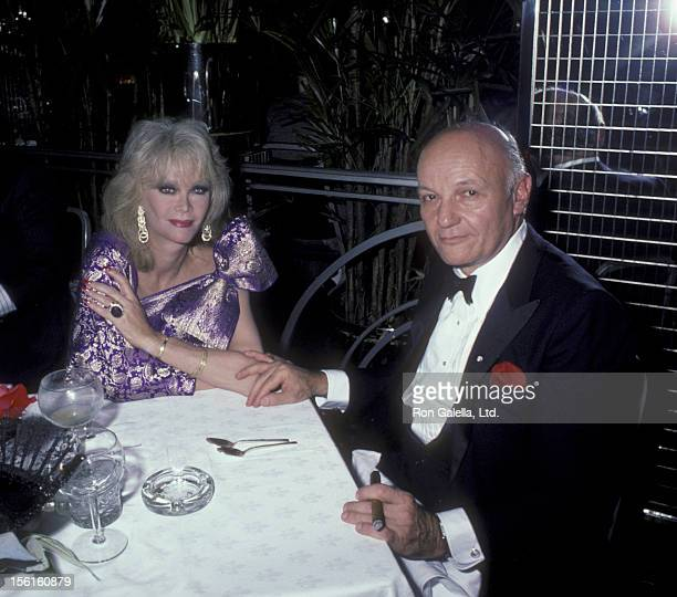 Actress Monique van Vooren and guest attend the party for Julio Iglesias on September 5 1984 at Regine's in New York City