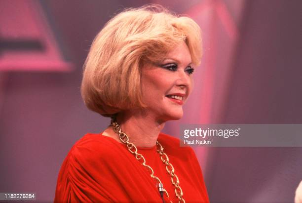 Actress Monique Van Vooren appears as a guest on the Oprah Winfrey Show in Chicago Illinois May 12 1988