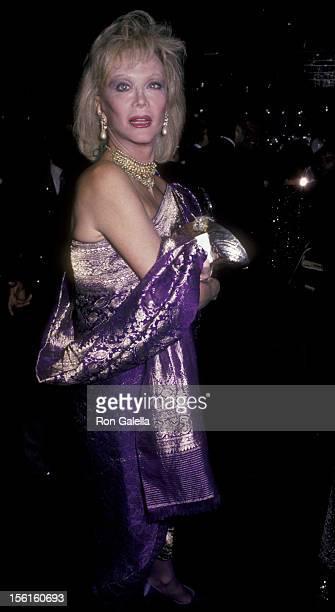 Actress Monique van Vooren attends 30th Anniversary Party for Regine's on October 8 1985 in New York City