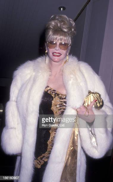 Actress Monique van Vooren attends American Museum of the Moving Image Gala Honoring Al Pacino on February 20 1993 at the Waldorf Astoria Hotel in...