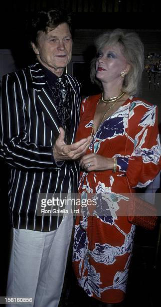 Actress Monique van Vooren attends Barry Nelson Party on July 29 1986 at Capriccio in New York City