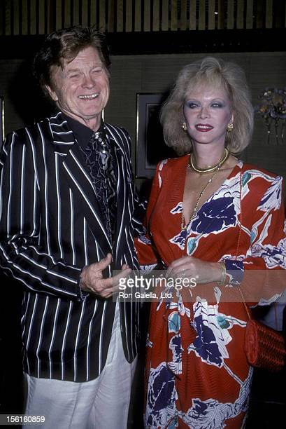 Actress Monique van Vooren attends Barry Nelson Party on July 29, 1986 at Capriccio in New York City.