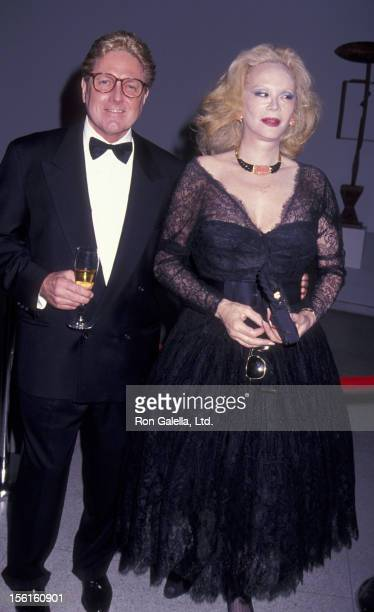 Actress Monique van Vooren attends Guggenheim In Gold Gala Honoring Mathilde Krim on April 29 1993 at the Guggenheim Museum of Art in New York City
