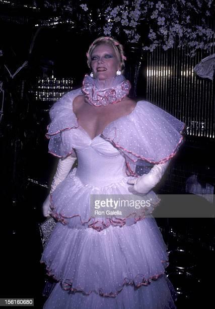 Actress Monique van Vooren attends Magic Halloween Party on October 31 1981 at Regine's in New York City