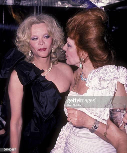 Actress Monique van Vooren attends New Year's Eve Party on December 31 1983 at Regine's in New York City