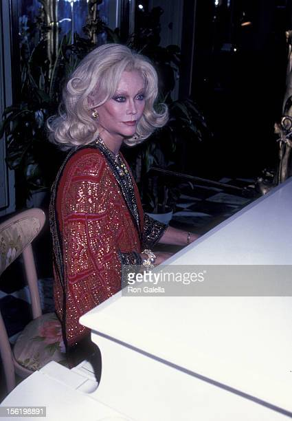 Actress Monique van Vooren attends the book party for 'Night Sanctuary' on November 2 1981 at La Camilla Restaurant in New York City