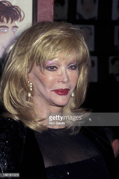Actress Monique van Vooren attends the opening of 'The Sunshine Boys' on December 8 1997 at Sardi's Restaurant in New York City