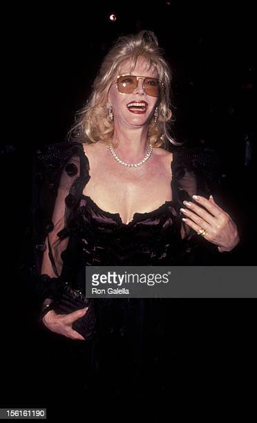 Actress Monique van Vooren attends 'Valentino Thirty Years of Magic' Gala Retrospective on September 22 1992 at the 67th Street Armory in New York...