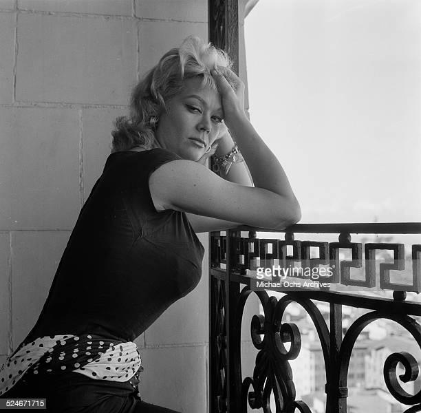 Actress Monique van Vooren poses for a portrait in San Francisco CA