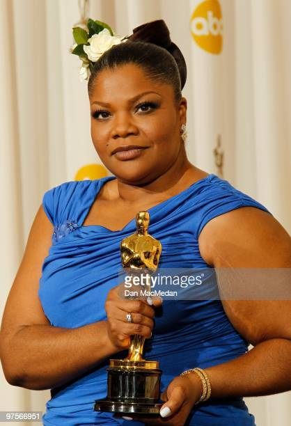 Actress Mo'Nique winner for Best Supporting Actress for 'Precious' poses in the press room at the 82nd Annual Academy Awards held at the Kodak...