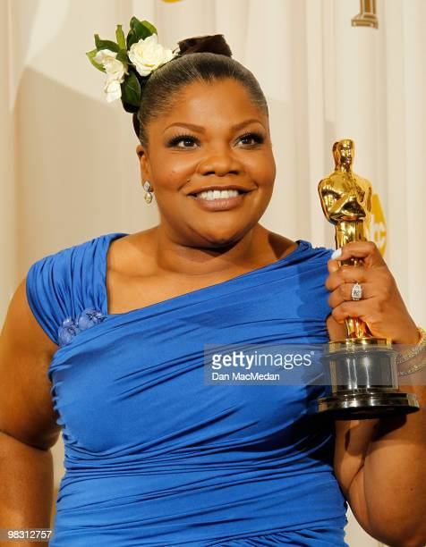 Actress Mo'Nique winner for Best Supporting Actress for Precious poses in the press room at the 82nd Annual Academy Awards held at the Kodak Theater...