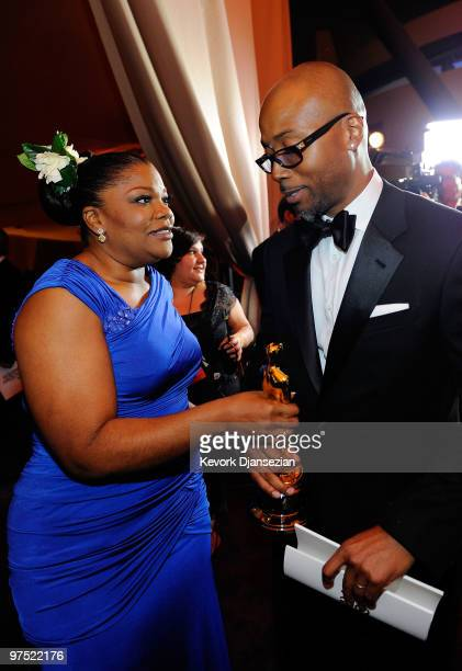 Actress Mo'Nique winner of Best Supporting Actress award for Precious Based on the Novel 'Push' by Sapphire and husband Sidney Hicks attend the 82nd...