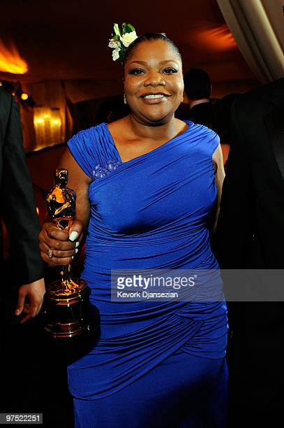 Actress Mo'Nique winner of Best Supporting Actress award for Precious Based on the Novel 'Push' by Sapphire attends the 82nd Annual Academy Awards...