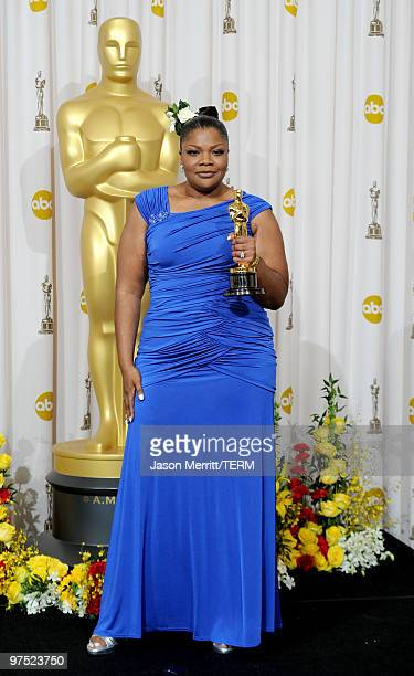 Actress Mo'Nique winner of Best Supporting Actress award for Precious Based on the Novel 'Push' by Sapphire poses in the press room at the 82nd...