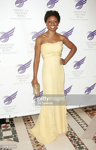 Actress Montego Glover attends the 2010 American Theatre Wing Spring Gala at Cipriani 42nd Street on June 7 2010 in New York City