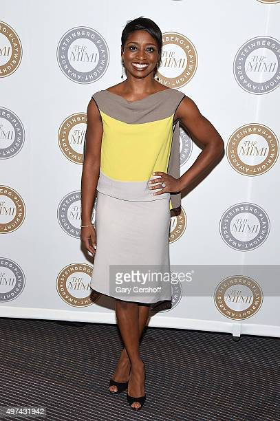 Actress Montego Glover attends the 2015 Steinberg Playwright Awards on November 16 2015 in New York City