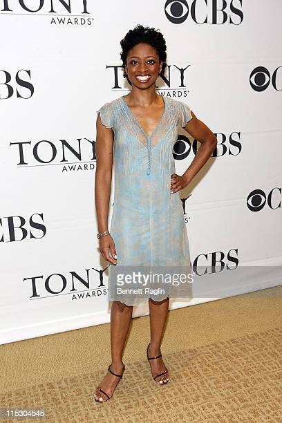 Actress Montego Glover the 2010 Tony Awards Meet the Nominees press reception at The Millennium Broadway Hotel on May 5 2010 in New York City